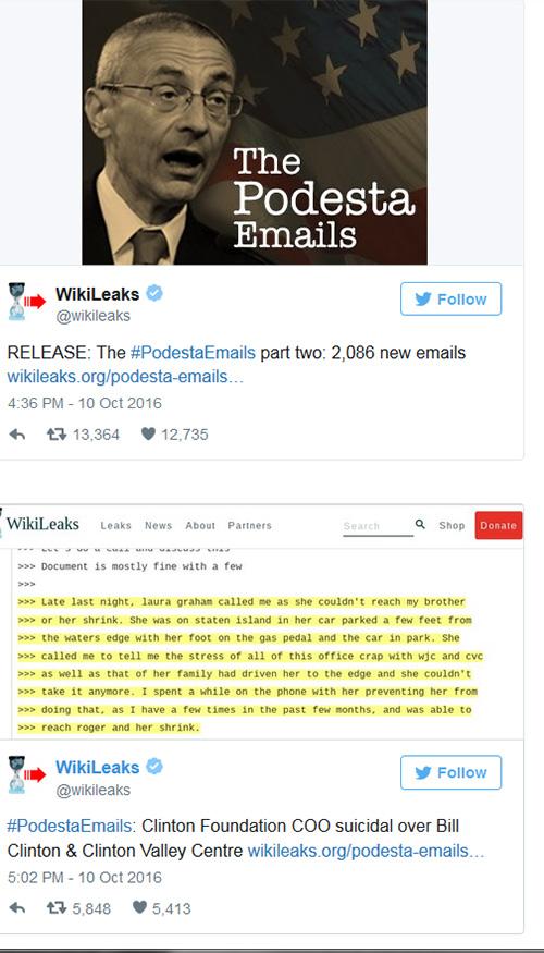 ويكيليس يُسرِّب رسالة خطيرة قد تهدد مستقبل كلينتون في السباق الرئاسي  ويكيليس يُسرِّب رسالة خطيرة قد تهدد مستقبل كلينتون في السباق الرئاسي