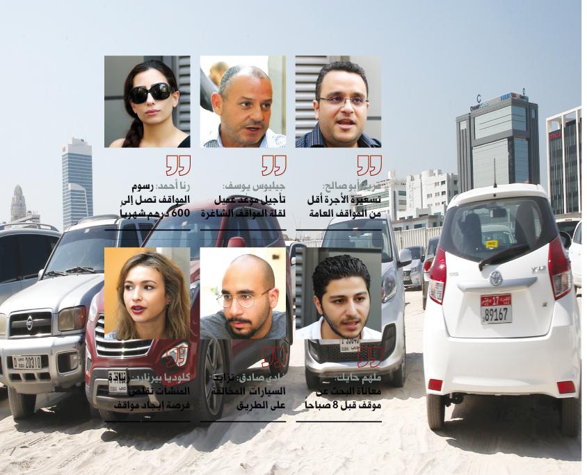 مواقف المركبات في «دبي للإعلام» وقرية المعرفة هاجس يومي  مواقف المركبات في «دبي للإعلام» وقرية المعرفة هاجس يومي  مواقف المركبات في «دبي للإعلام» وقرية المعرفة هاجس يومي