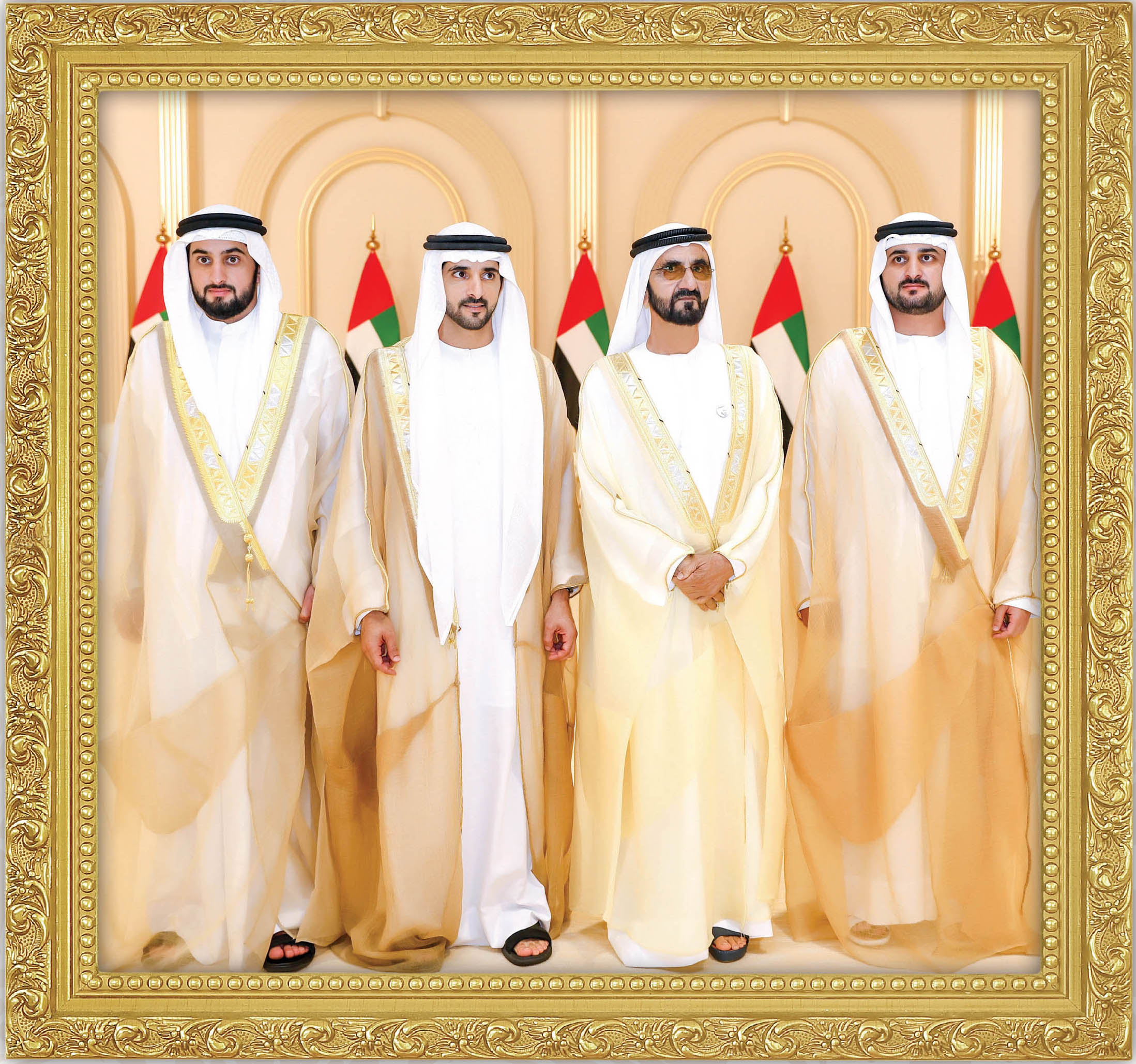 Mohammed Bin Rashid Receives The Congratulations Of Mohammed Bin Zayed And The Emirates Of The Emirates As Well As The Wedding Of His Children