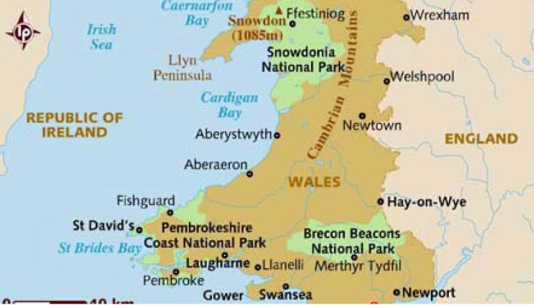 0e501cf8c ... بريطانيا العظمى، تحدها إنجلترا إلى الشرق، والمحيط الأطلسي والبحر  الإيرلندي إلى الغرب. ويبلغ مجموع مساحتها 20779 كيلو متراً مربعاً، تمتلك  ويلز ما يزيد ...
